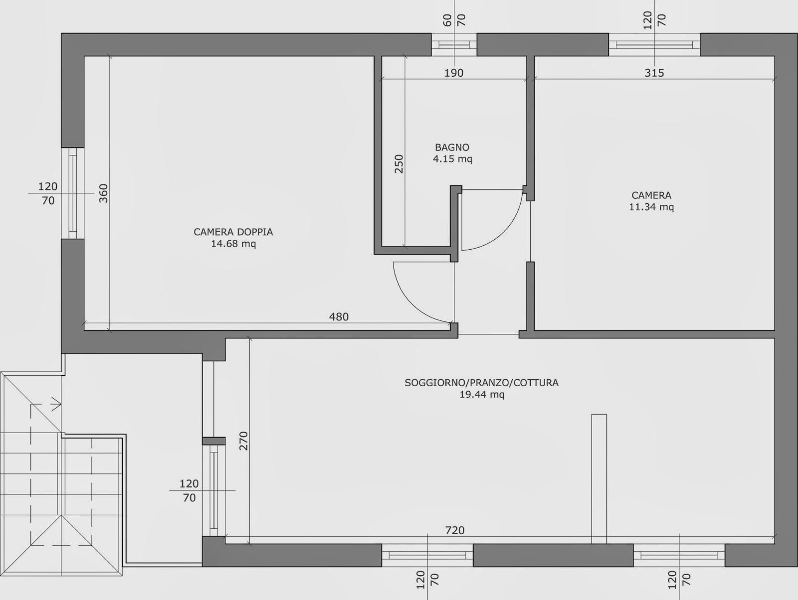 The marti 39 s loft come leggere un disegno in scala for Disegno stanza