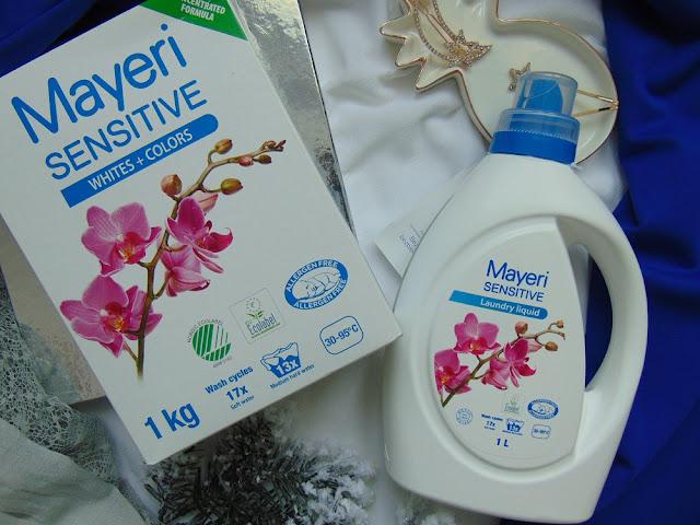 Mayeri Sensitive - Delikatne produkty do prania ubrań dzieci i osób z alergią