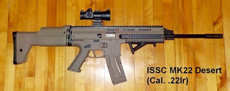 Armes à air et carabines .22lr de Picanox ISSC-MK22-Desert