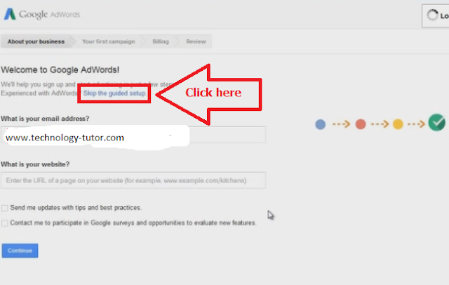 How to bypass Google AdWord campaign to use keyword planner.