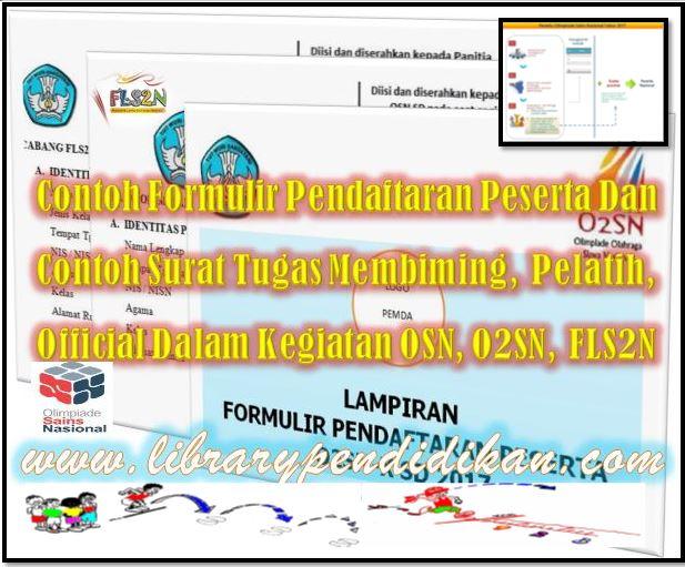 Contoh Formulir Pendaftaran Peserta Osn O2sn Fls2n Dan Contoh