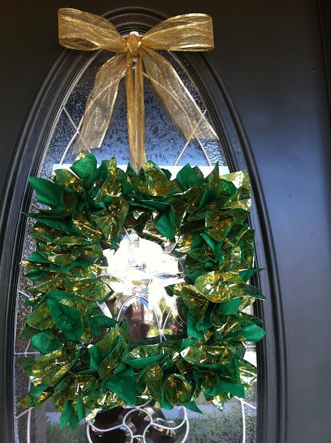 DIY door wreath / My Sweet Zepol