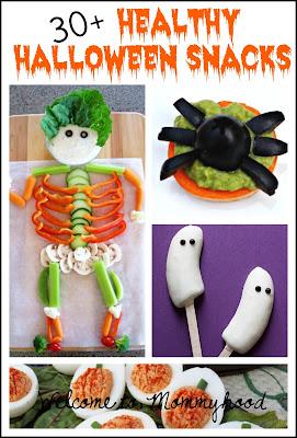 30+ Healthy Halloween Snacks round up by Welcome to Mommyhood #healthysnacks, #healthypreschoolmeals, #healthytoddlermeals, #healthyhalloweensnacks