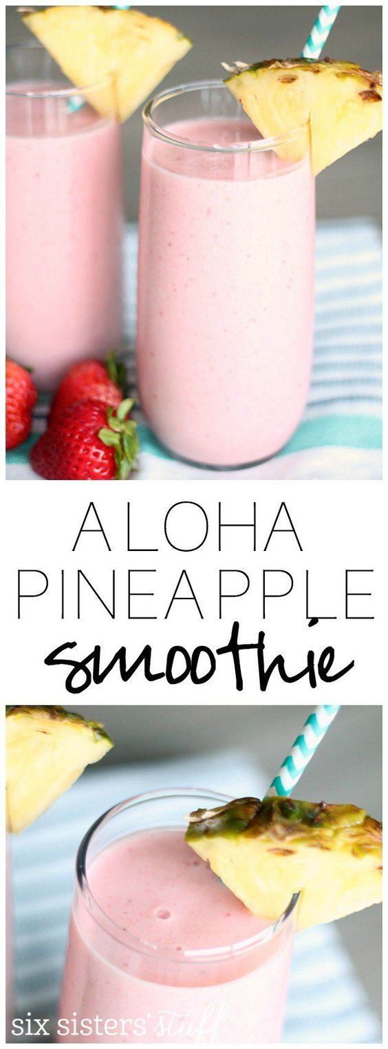 Copycat Jamba Juice aloha Pineapple Smoothie #jambajuice #juice #pineapple #easyrecipes #juicedrink #healthyrecipes