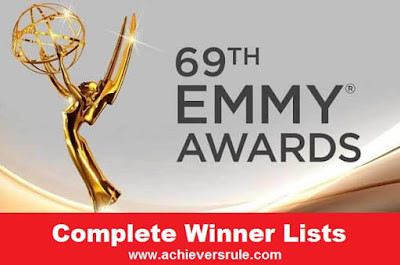 69th Emmy Award 2017 - Complete Winner Lists