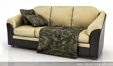 Comfort Sofa 3d model free