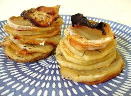 Recette Mille-feuille croustillant aux pommes de terre et parmesan!
