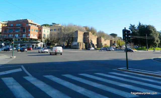 Muralhas de Roma no Bairro do Testaccio