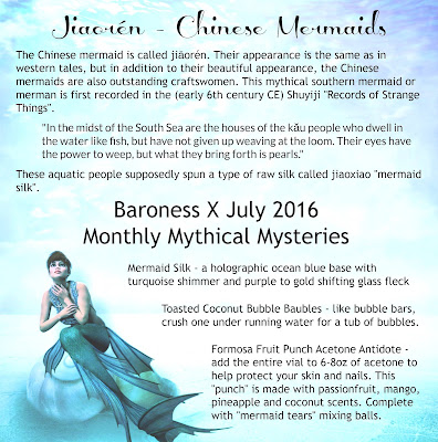 Baroness X Mermaid Silk • August 2016 Monthly Mythical Mystery