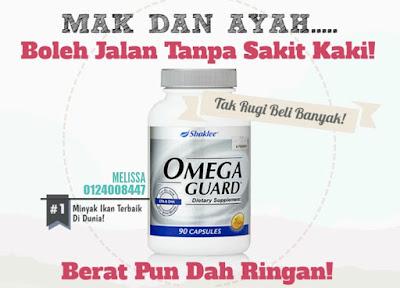 Beli Omega Guard Untuk Kurangkan Kolesterol Dan Kaki Dah Tak Sakit
