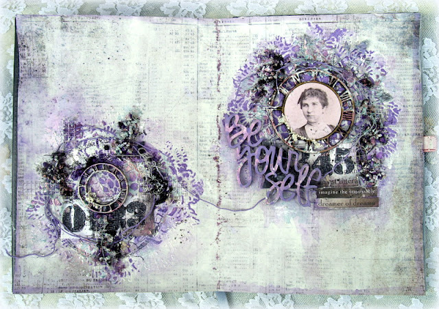 Mixed Media Place Vintage Art Journal Spread By Anna Rogalska