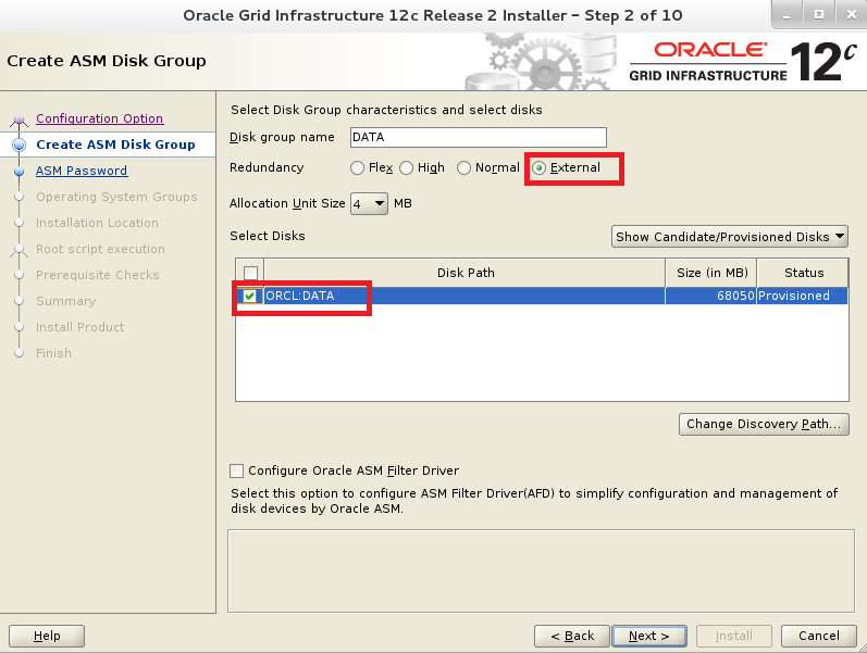 Installing Oracle 12c R2 Grid Infrastructure on Linux 6 and