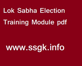 Lok Sabha Election Training Module pdf