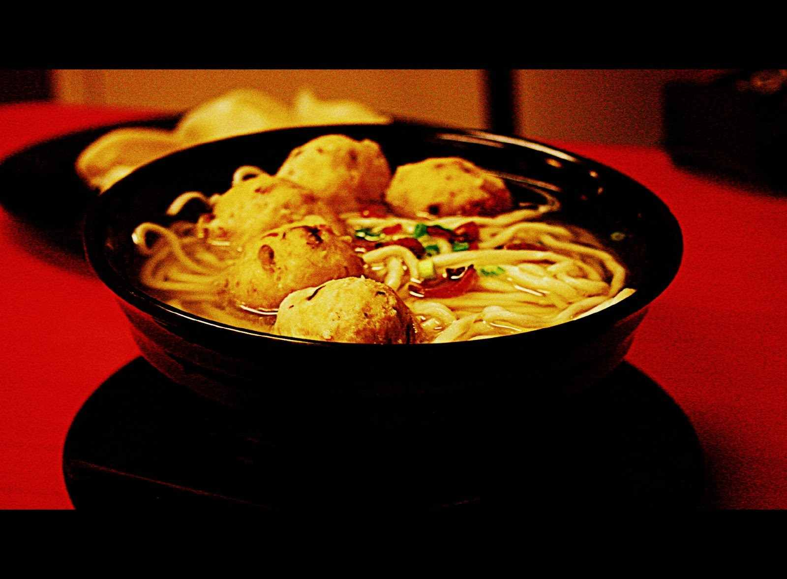 Mushroom noodle soup at Tasty Dumplings in Binondo