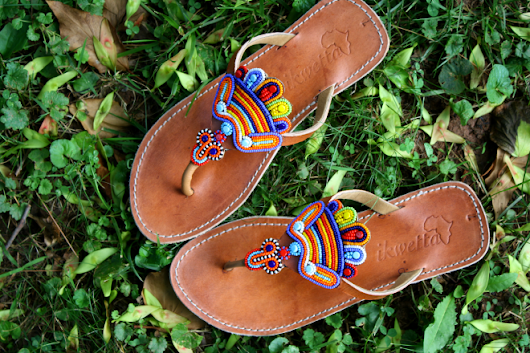 "the moral wardrobe: Ikwetta ""Jewelled Peacocks"" sandals"