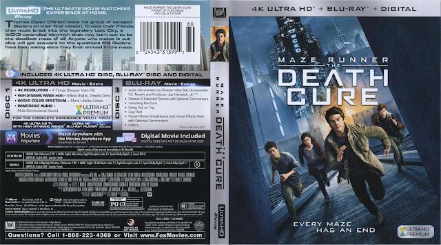 Maze Runner: Death Cure 4K Bluray Cover