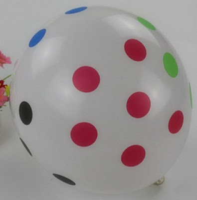 Balon Latex Polkadot Random Colour