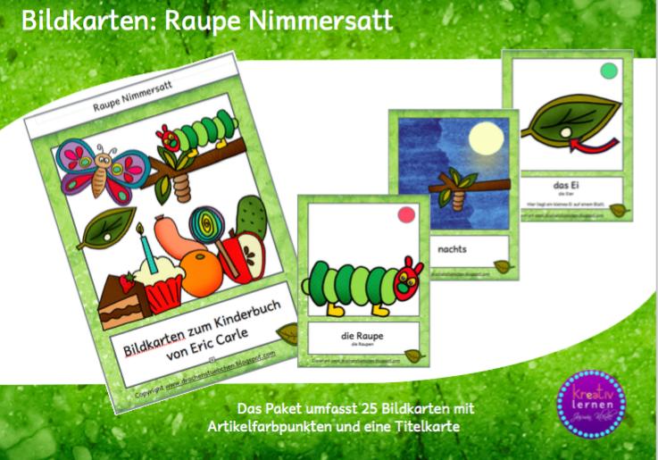 Drachenstubchen Bildkarten Raupe Nimmersatt Fur Kinder Die