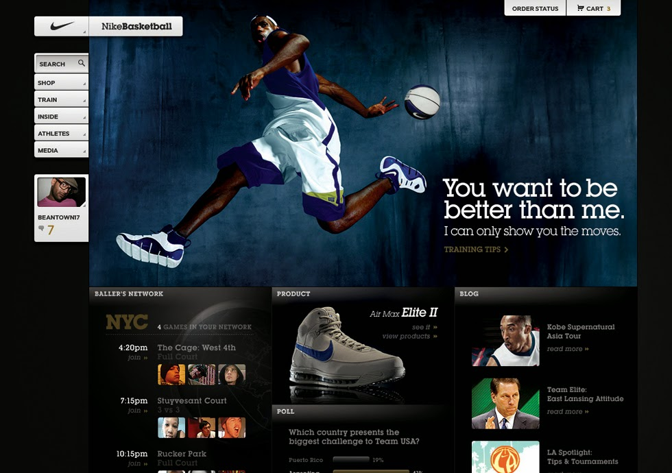 Pelun Chen - Interactive Art Direction and Design - Nike Basketball