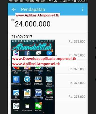 Bukti penghasilan menggunakan Aplikasiatmponsel.tk