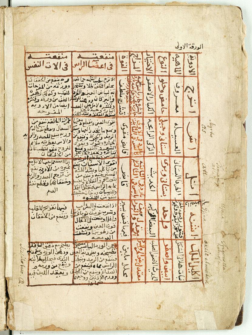 نتيجة بحث الصور عن مـخطوطـة كـتاب الـطب ابن البيطار