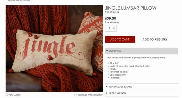 Pottery Barn Knock Off Poinsettia Pillow Red This Time