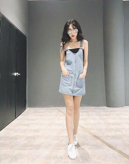 Yếm Váy Jeans Ngắn 2 Dây