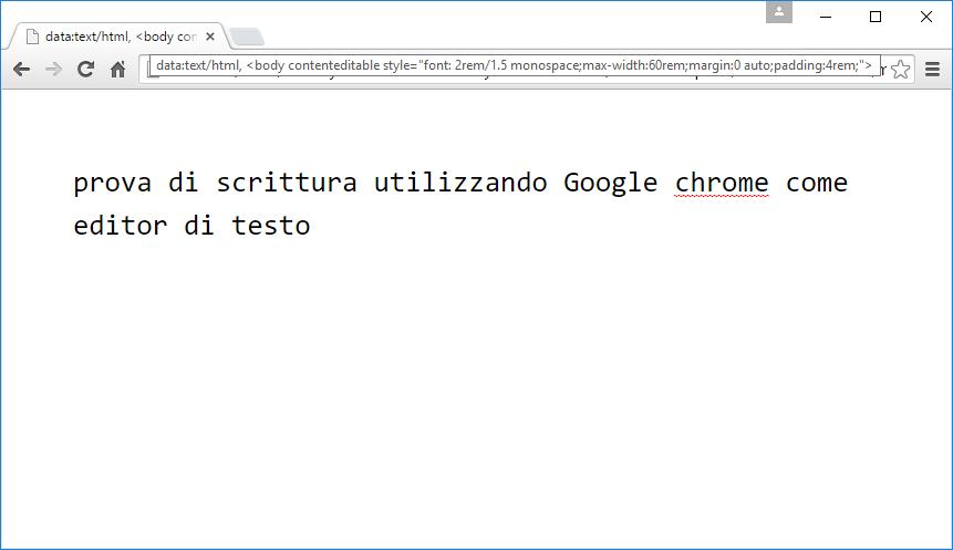 Google Chrome, impostare font e margini