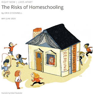 Harvard Magazine gets attention for an article about the  risks of home schooling.