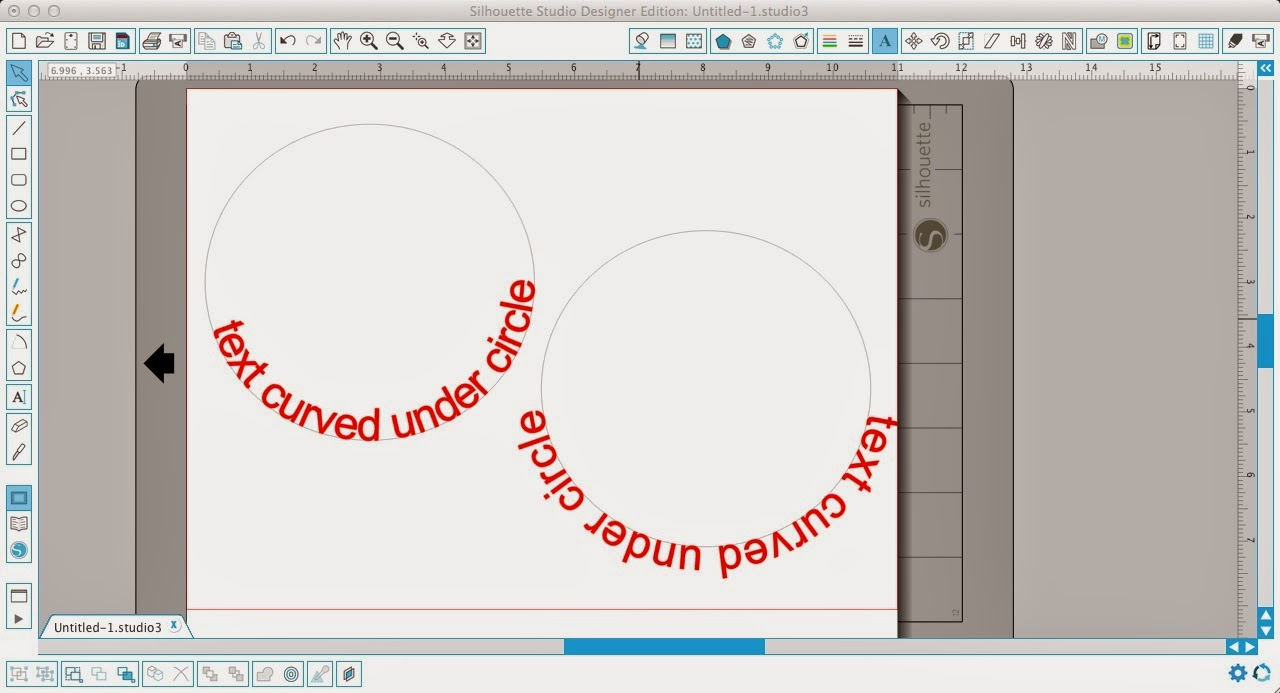 Silhouette Studio, curving text, under a circle, Silhouette tutorial
