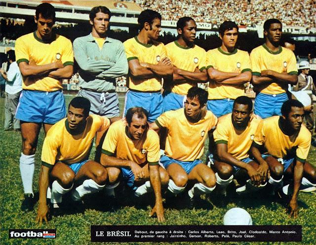 Formación de Brasil ante Chile, amistoso disputado el 22 de marzo de 1970