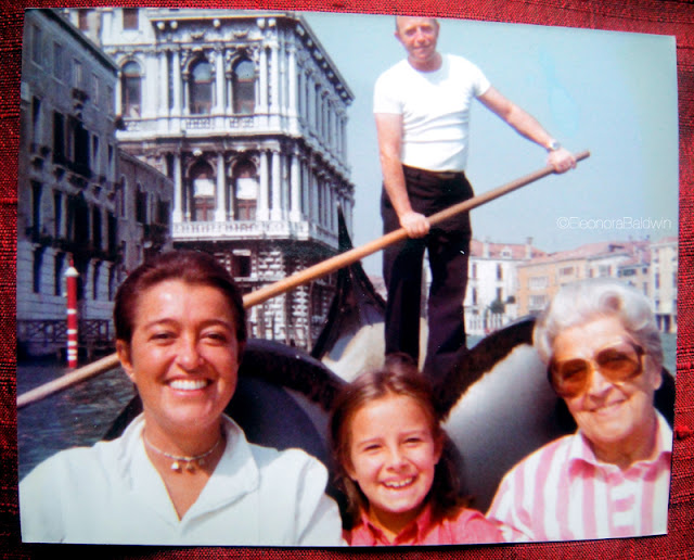 Mom, me and Nonna in Venice