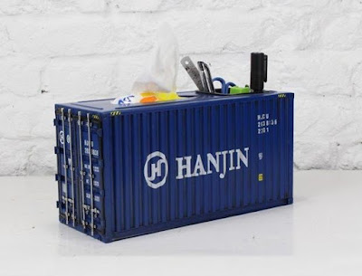 Container Box With Pen Holder