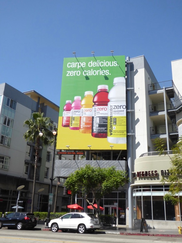 Vitamin Water Carpe delicious Zero calories billboard