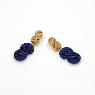 large-stud-earrings-gold-navy-blue-soutache