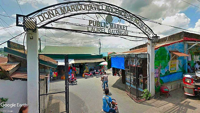The Public Market in Laurel, Batangas.  Image source: Google Earth Street View.