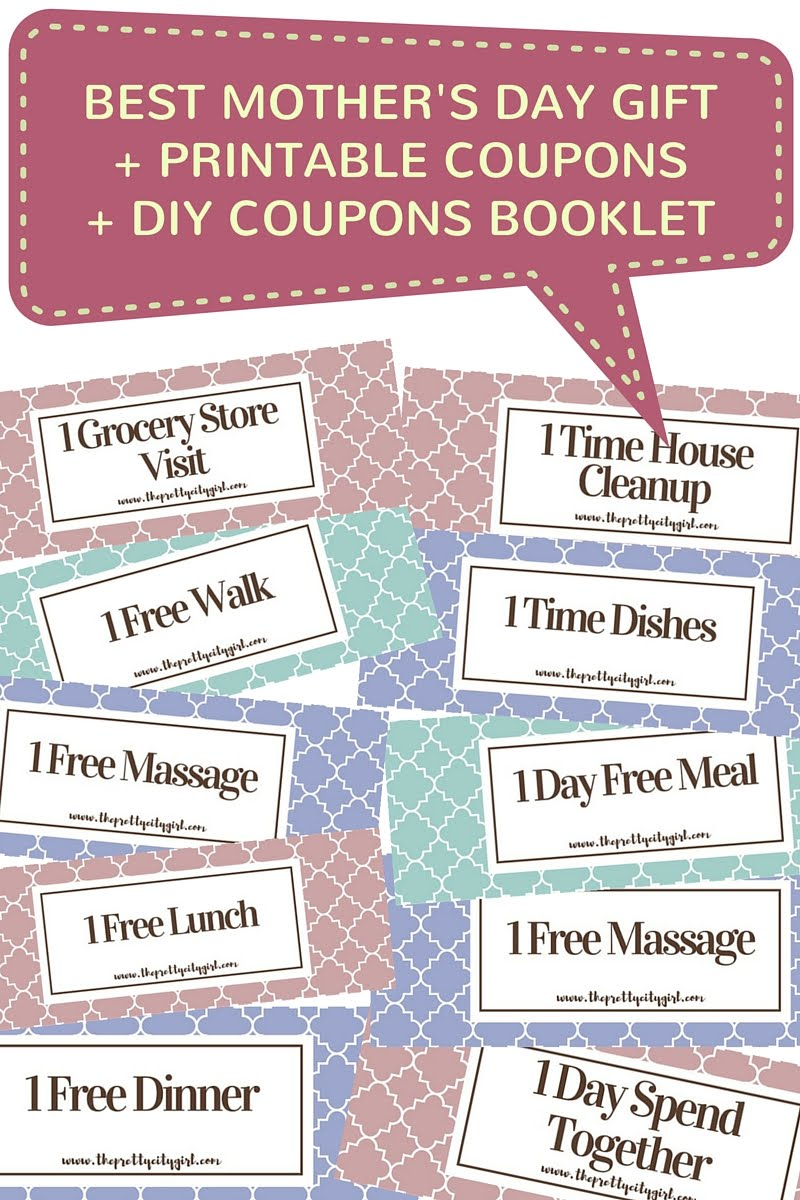 best mothers day gift free printable coupons diy coupons booklet