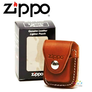 ZIPPO Genuine Leather Lighter Pouch (Brown)