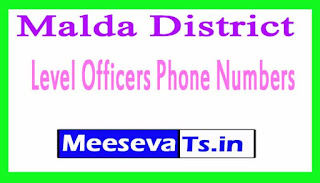 Malda Phone Numbers/District Level Officers Phone Numbers West Bengal