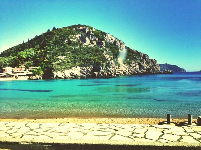 Corfu, Paleokastritsa beach