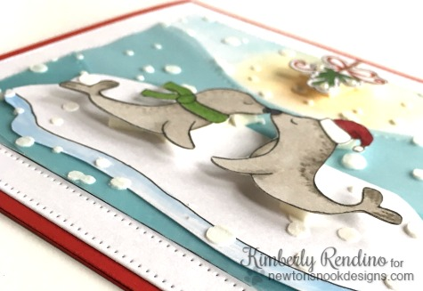 newton's nook | holiday smooches | seals | handmade card | embossing paste | kimpletekreativity.blogspot.com