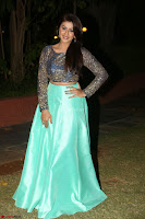 Nikki Galrani in Green Skirt  Top at Marakathamani music launch ~  Exclusive (127).JPG