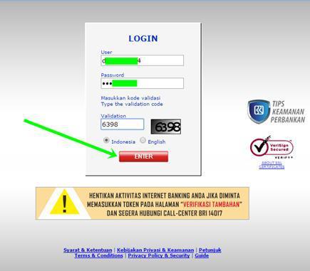 alamat situs resmi bank bri - Login