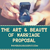 THE ART AND BEAUTY OF MARRIAGE PROPOSAL