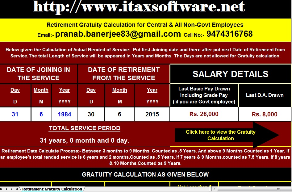Gratuity Limit Increased to Rs. 20 lakhs, With Gratuity Calculator with Gratuity Calculation ...