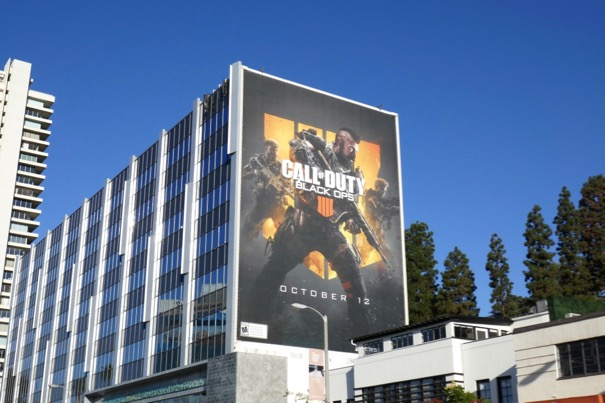 Giant Call of Duty Black Ops 4 billboard