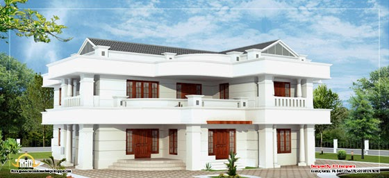 Beautiful 2 Story House Elevation 3665 Sq Ft Kerala