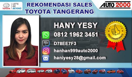 Rekomendasi Sales Toyota Cikokol Tangerang