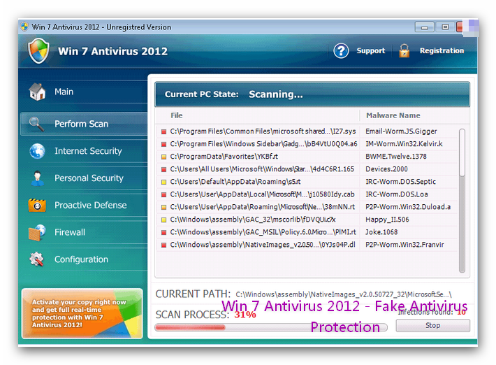 My Reviews: Win 7 Antivirus 2012