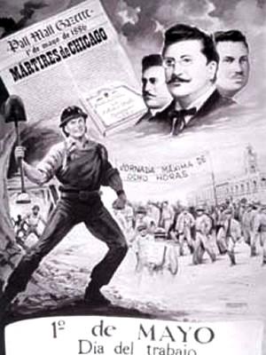 Imagen por el Día del Trabajo en honor a los Mártires de Chicago
